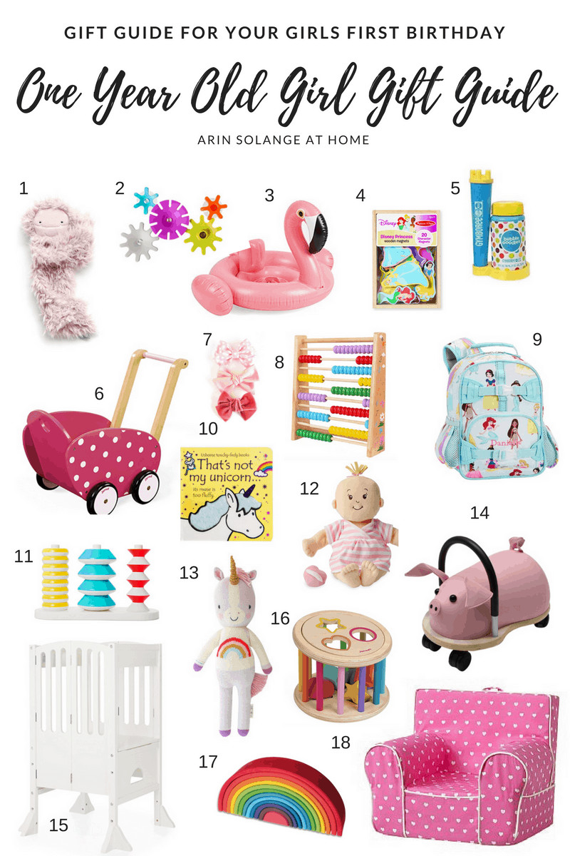 1 Yr Old Girl Birthday Gift Ideas  e Year Old Girl Gift Guide arinsolangeathome
