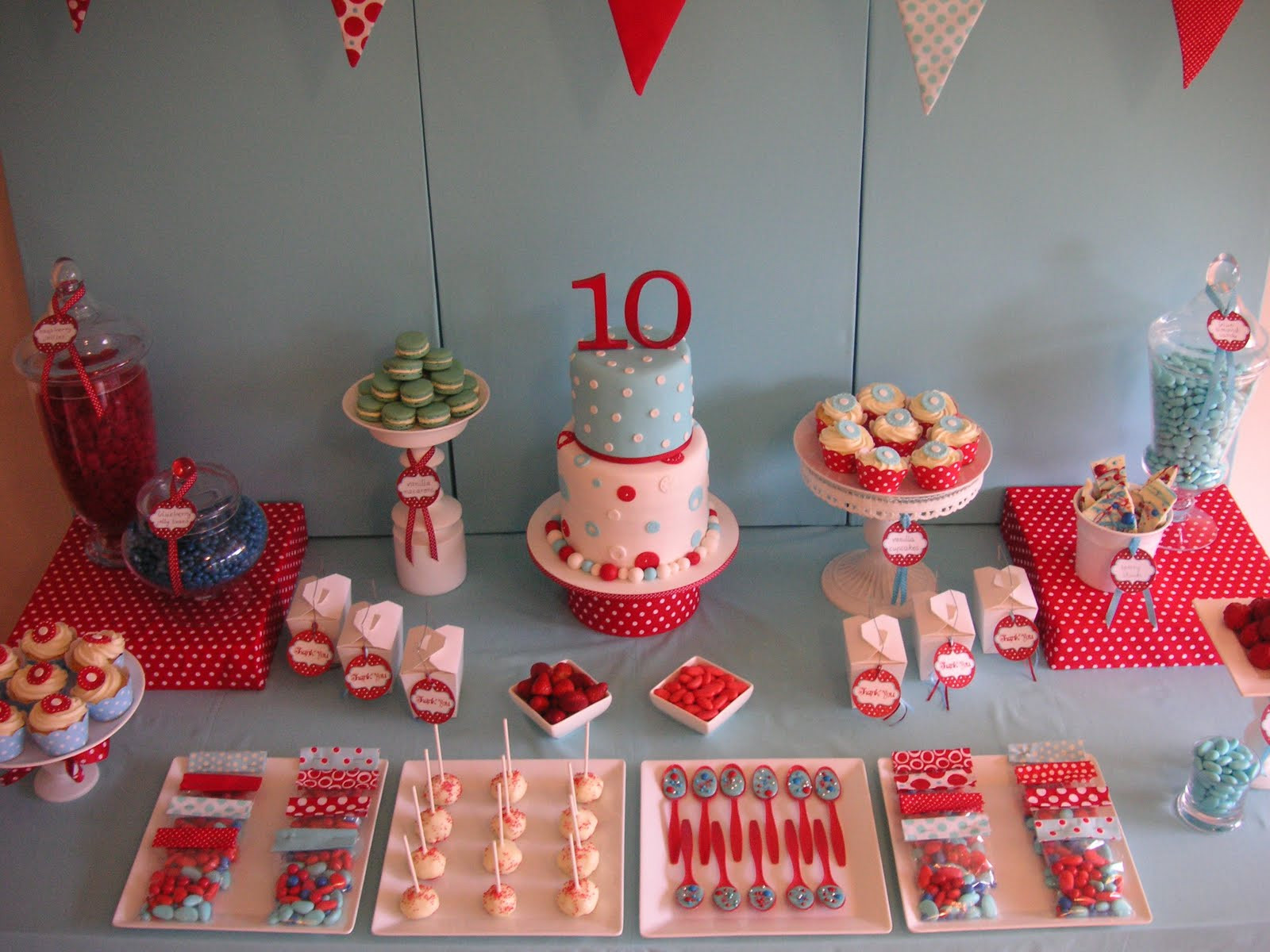 10Th Birthday Party Ideas Girl  Coolest Cupcakes Anya s 10th birthday polka dot party