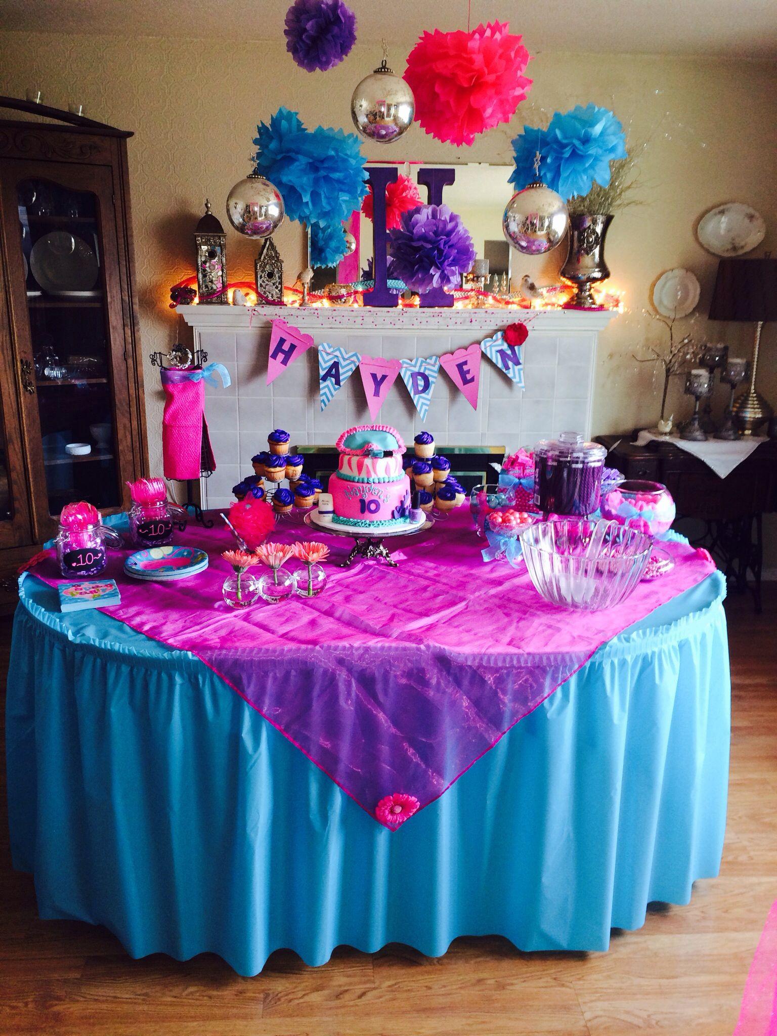 10Th Birthday Party Ideas Girl  Girls 10th birthday party