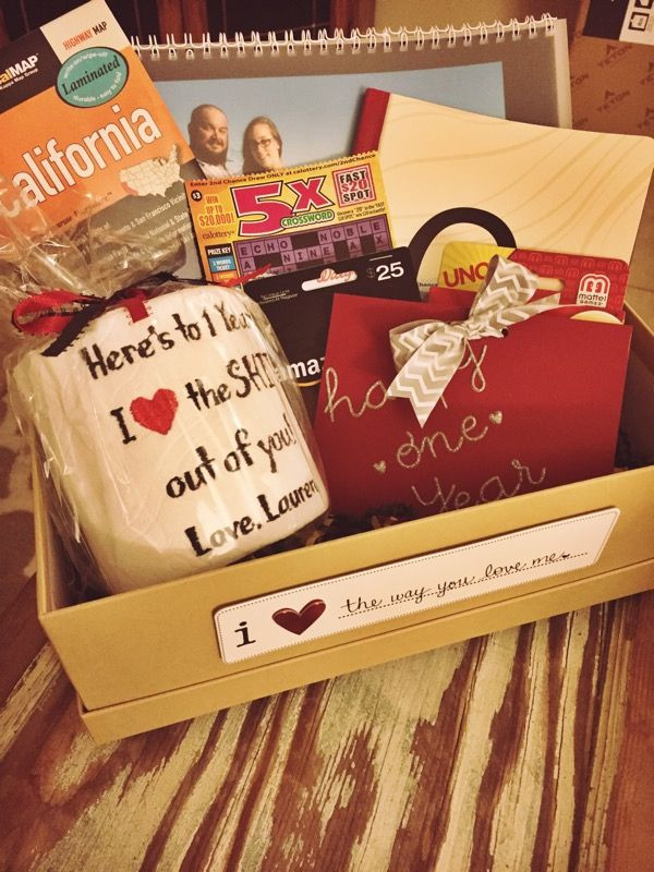 """1St Anniversary Gift Ideas For Him  1st Anniversary """"paper"""" t box idea for husband"""