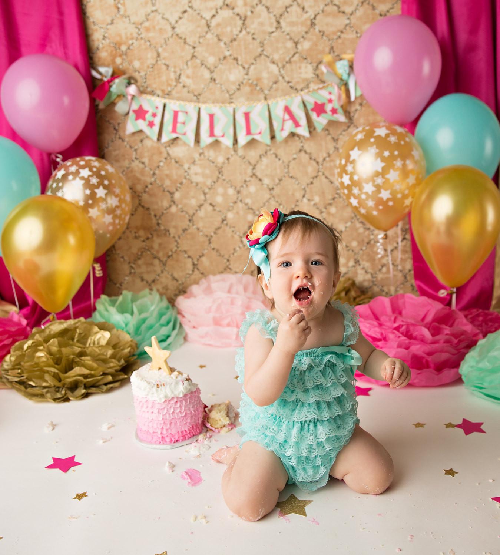 1st Birthday Cake Smash  CAKE SMASH BANNER 1st birthday girl 1st birthday banner