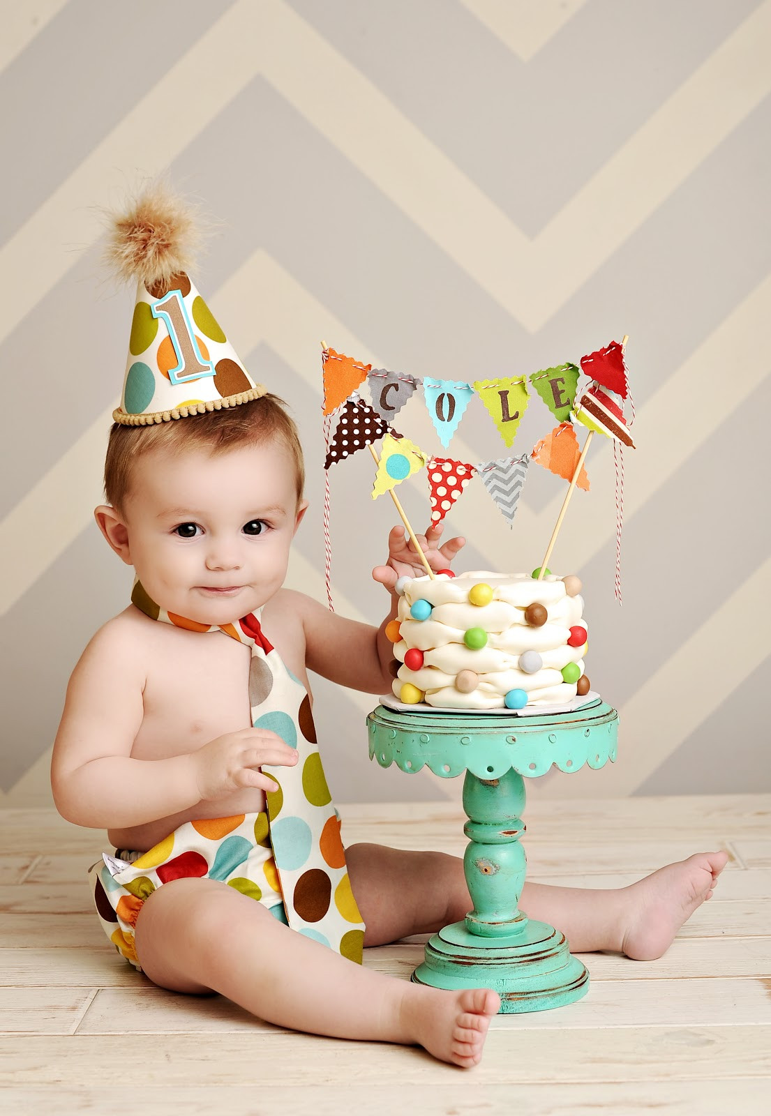 1st Birthday Cake Smash  Custom Cakes By Stef Billowing Smash Cake