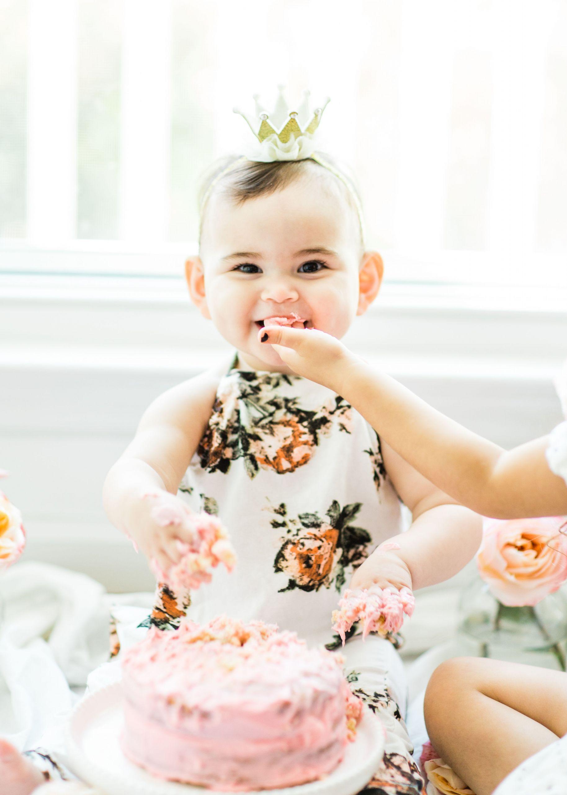 1st Birthday Cake Smash  First Birthday Smash Cake Vanilla Crazy Cake Recipe