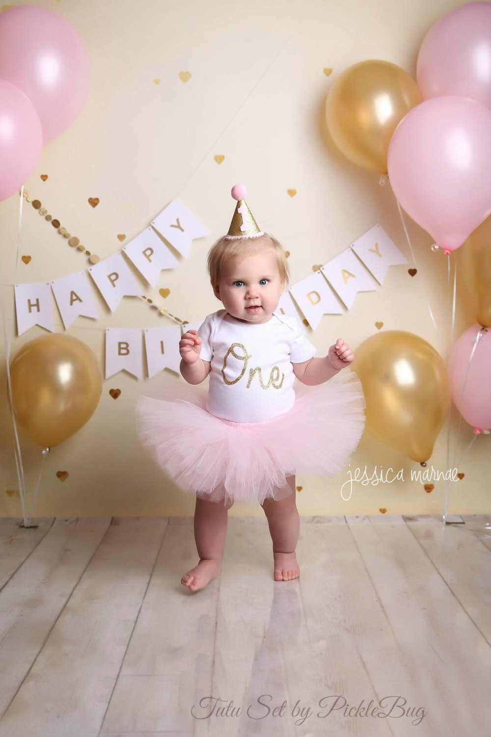 1st Birthday Cake Smash  First Birthday Outfit Girl Cake Smash Outfit Girl Pink and