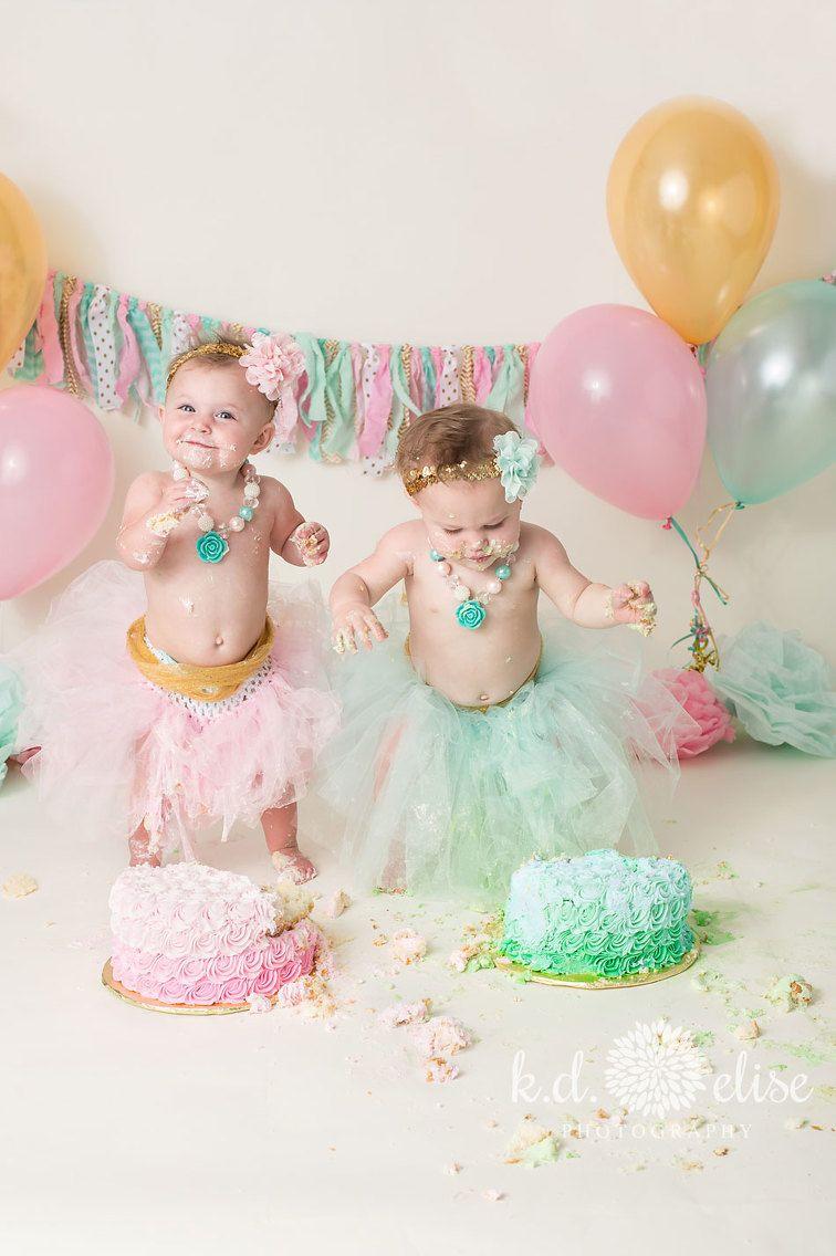 1st Birthday Cake Smash  Twin Cake Smash