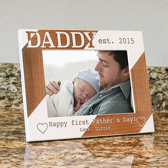 1St Father'S Day Gift Ideas From Baby  Dads First Christmas Picture Frame First Christmas for