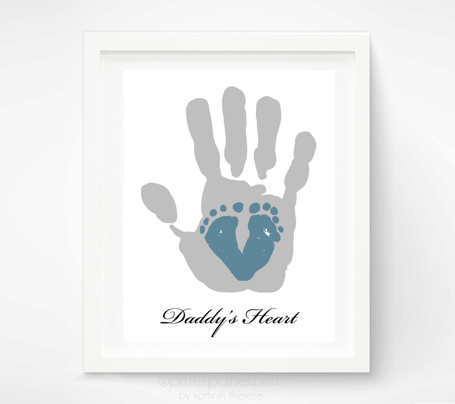 1St Father'S Day Gift Ideas From Baby  First Father s Day Gift for New Dad Baby by PitterPatterPrint