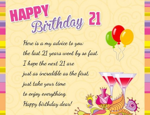21st Birthday Quote  21st Birthday Quotes and Wishes