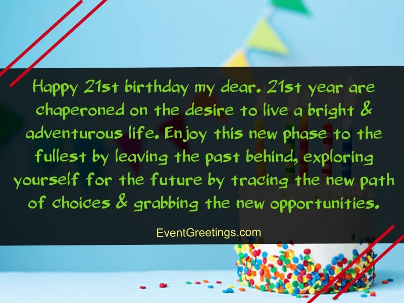 21st Birthday Quote  Happy 21st Birthday Quotes and Wishes With Love Events
