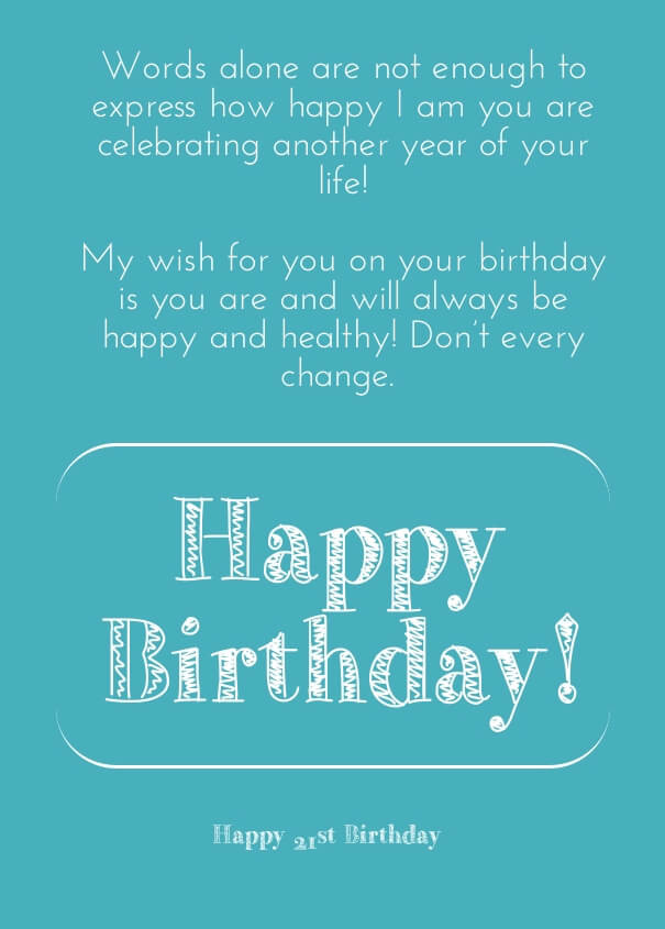21st Birthday Quote  21st Birthday Quotes – Funny 21 Birthday Wishes and Sayings