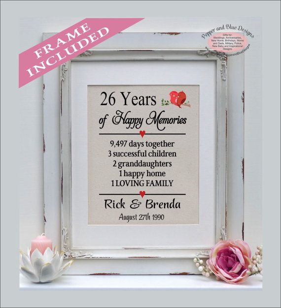 26 Year Anniversary Gift Ideas  26th anniversary 26 years married 26 years by
