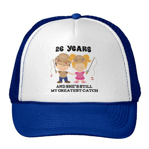 26 Year Anniversary Gift Ideas  26th Wedding Anniversary Gift For Him Trucker Hat