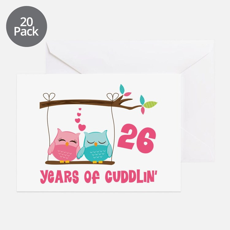 26 Year Anniversary Gift Ideas  26Th Wedding Anniversary 26th Wedding Anniversary Greeting