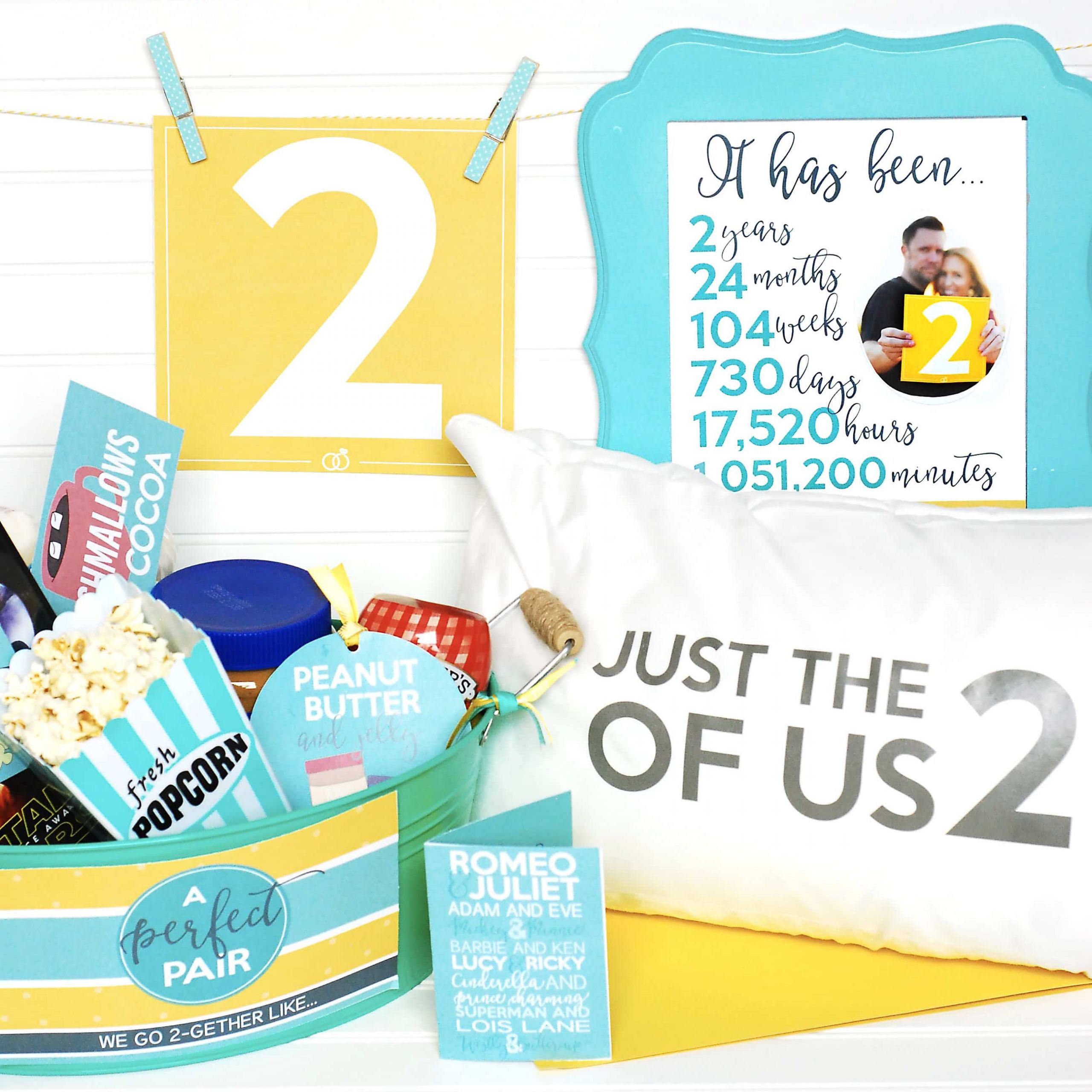 2Nd Anniversary Gift Ideas Her  Second Anniversary Gift Printable Kit The Dating Divas