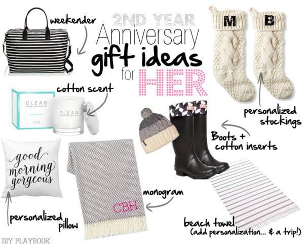 2Nd Anniversary Gift Ideas Her  2nd Year Wedding Anniversary Gift Ideas DIY Playbook