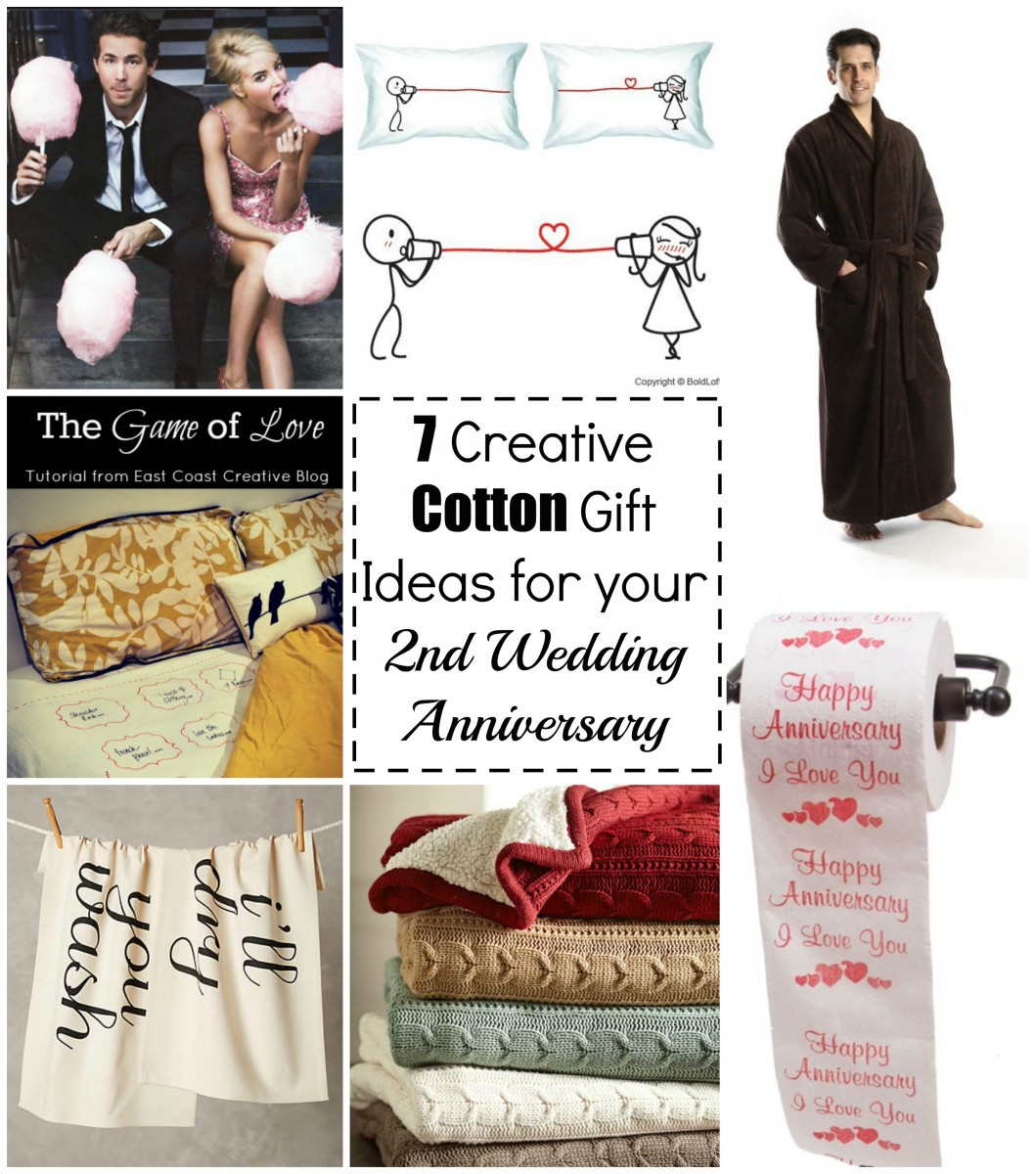 2Nd Anniversary Gift Ideas Her  7 Cotton Gift Ideas for your 2nd Wedding Anniversary