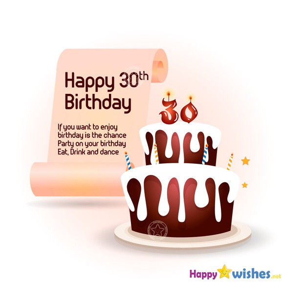 30 Birthday Quotes Funny  Happy 30th Birthday Wishes Quotes and Messages