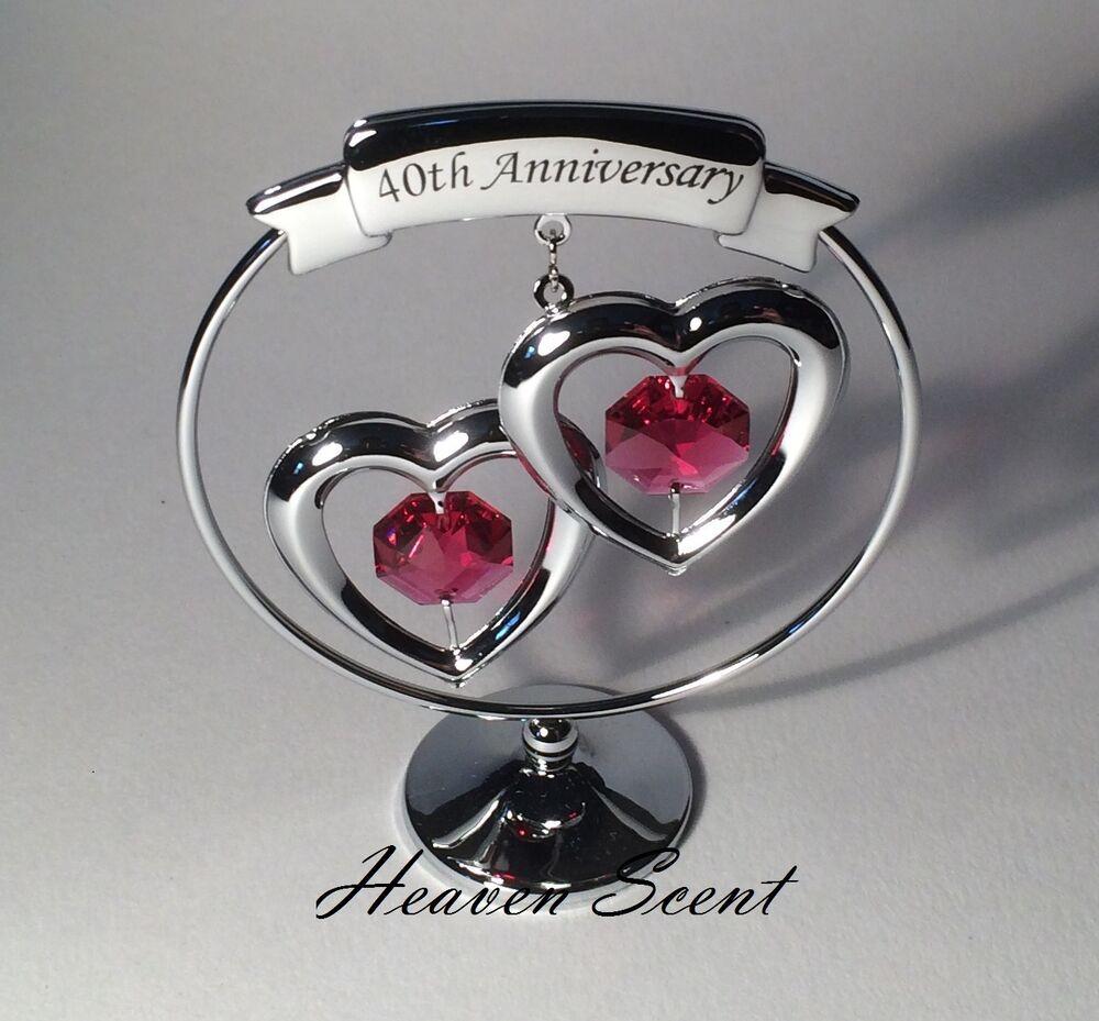 40Th Wedding Anniversary Gift Ideas  40th Ruby Wedding Anniversary Gift Ideas with Swarovski
