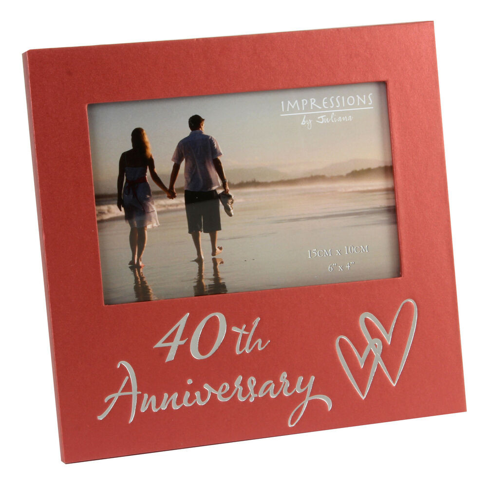 40Th Wedding Anniversary Gift Ideas  40th Ruby Wedding Anniversary Gifts Wooden Frame