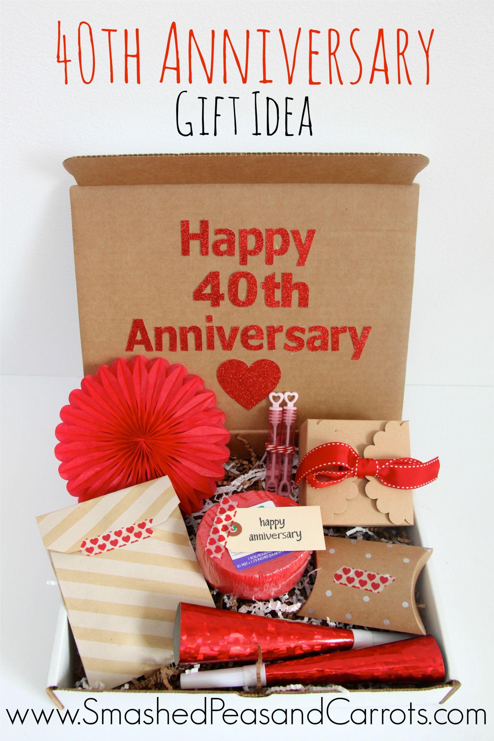 40Th Wedding Anniversary Gift Ideas  Happy 40th Anniversary Gift Idea Smashed Peas & Carrots