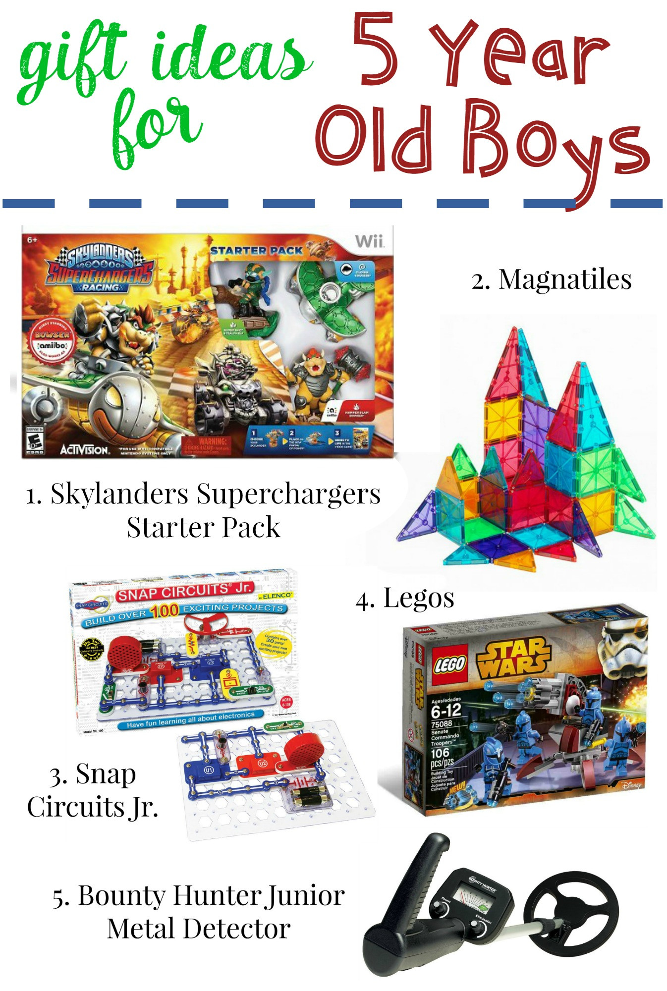 5 Year Old Boy Birthday Gift  Gifts for 5 Year Old Boys