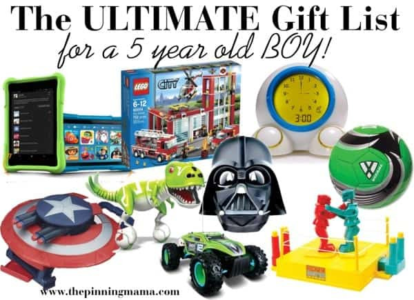 5 Year Old Boy Birthday Gift  The ULTIMATE List of Gift Ideas for a 5 Year Old Boy