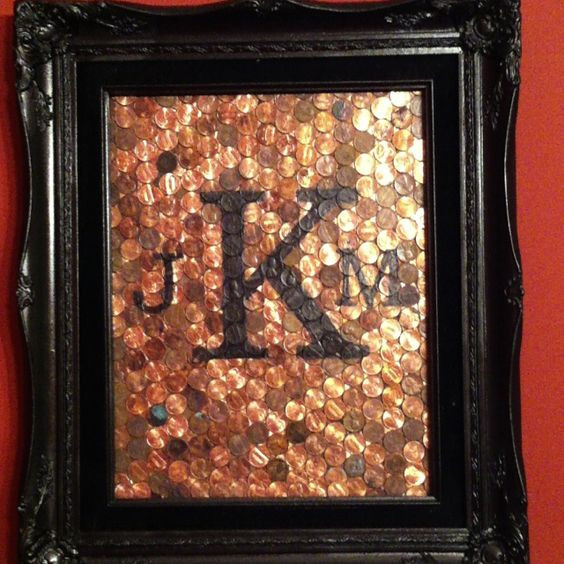 7 Year Anniversary Copper Gift Ideas  7th wedding anniversary Old frames and Pennies on Pinterest