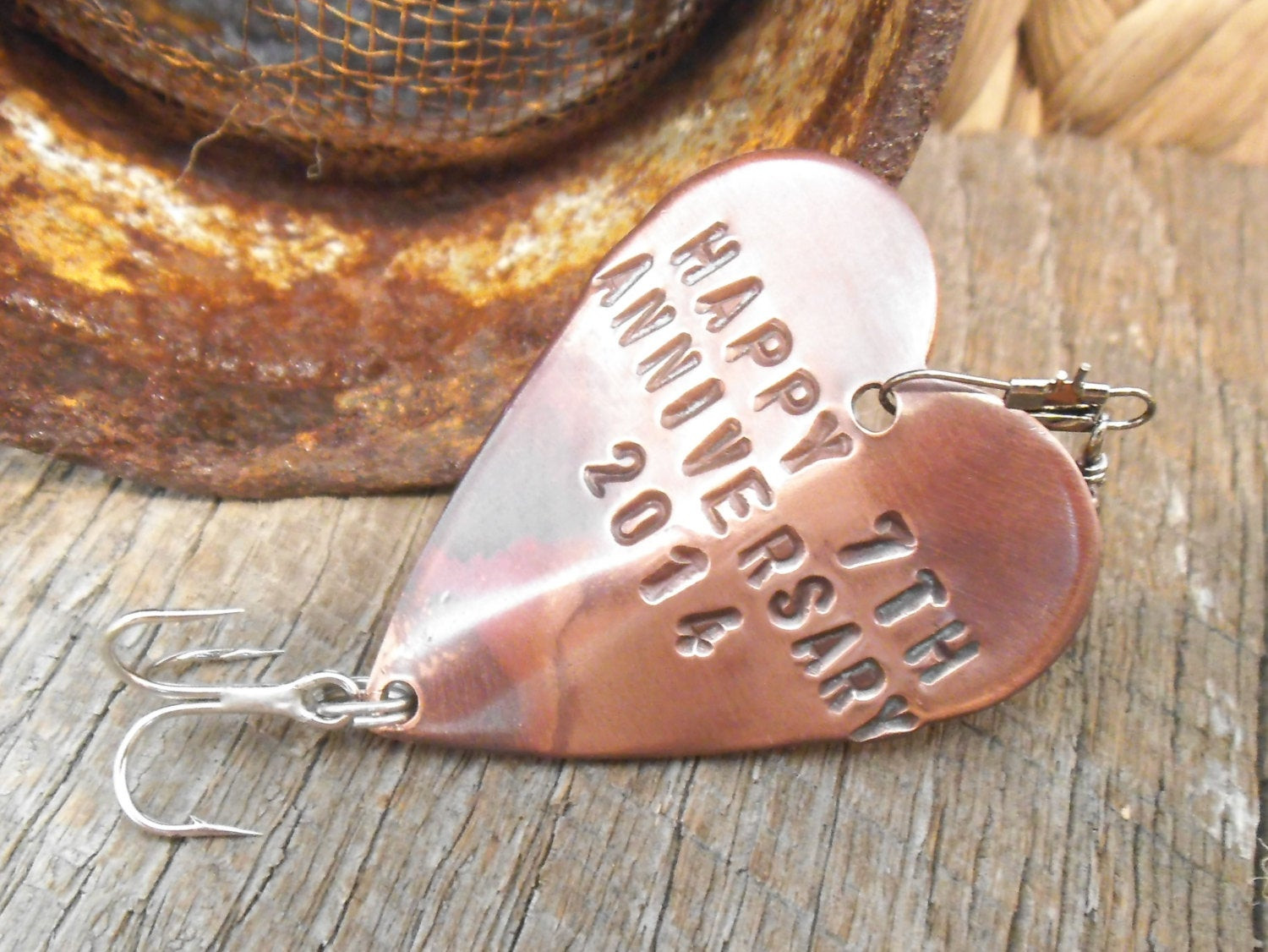7 Year Anniversary Copper Gift Ideas  Seventh Anniversary 7th Wedding Anniversary Lucky 7 Copper