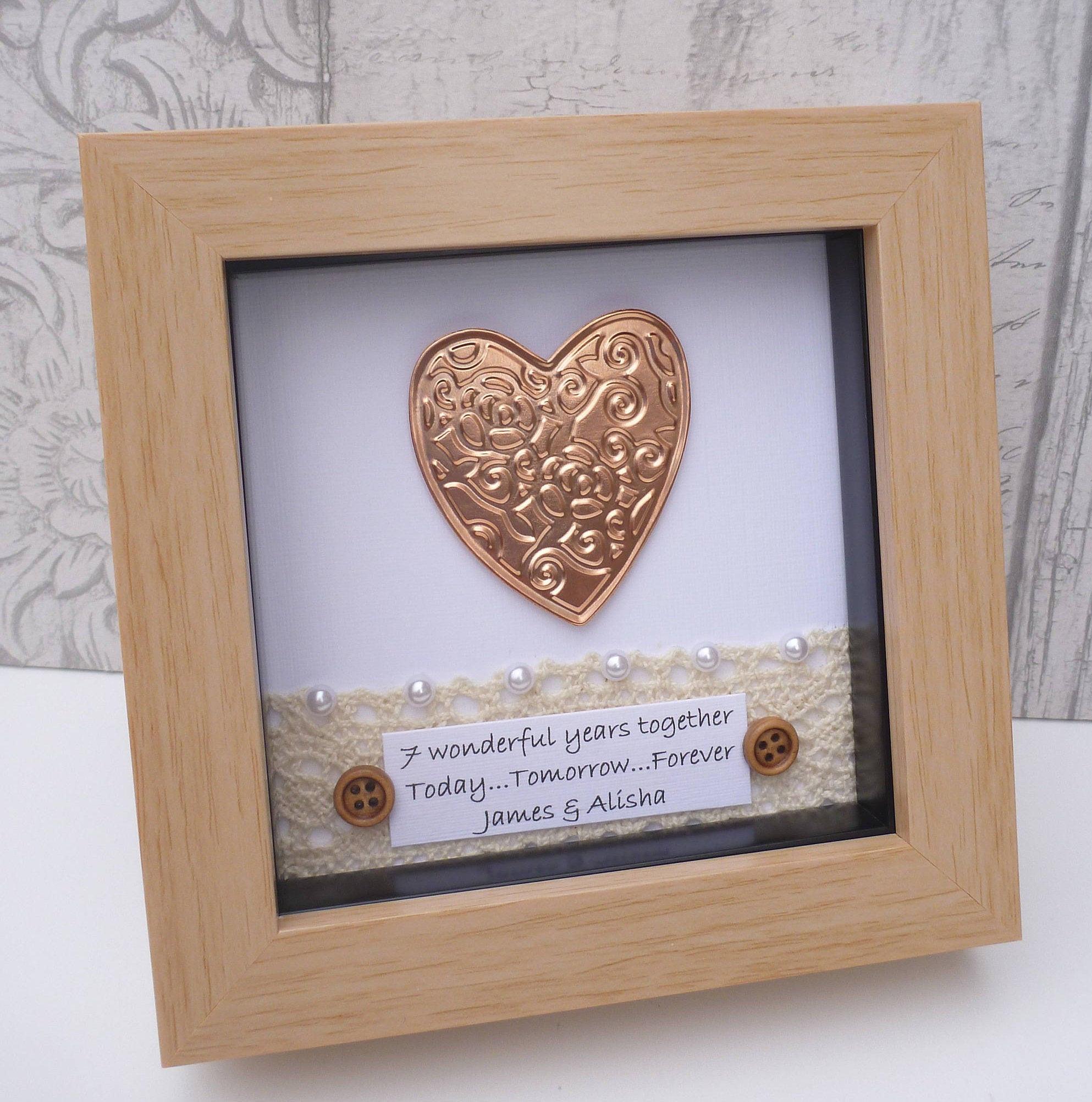7 Year Anniversary Copper Gift Ideas  7th wedding anniversary t 7th anniversary t copper