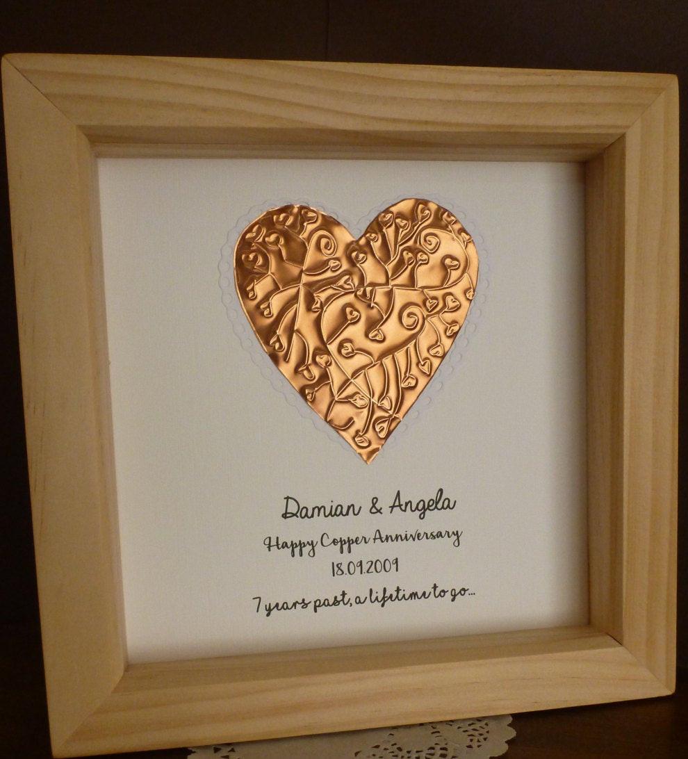 7 Year Anniversary Copper Gift Ideas  7th wedding anniversary t copper anniversary t 7th