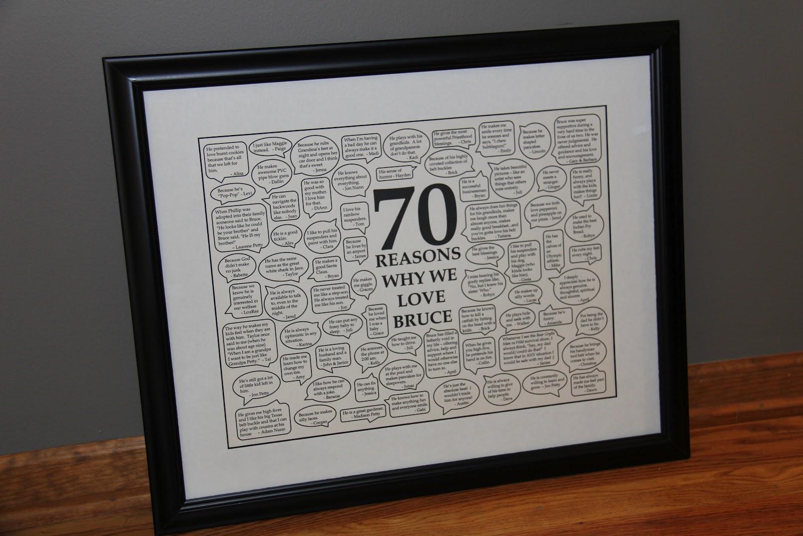 70Th Anniversary Gift Ideas  Sometimes Creative 70th Birthday Gift