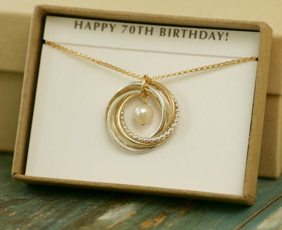 70Th Anniversary Gift Ideas  70th birthday t 7 year anniversary t mothers necklace