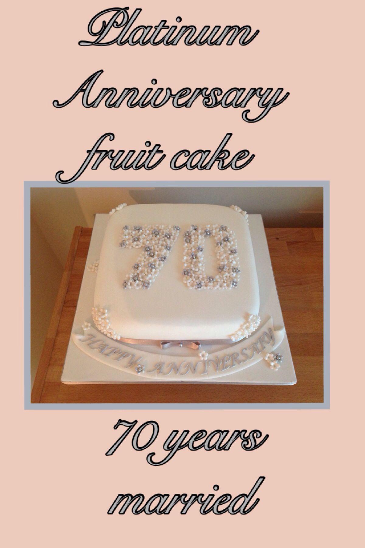 70Th Anniversary Gift Ideas  70th platinum anniversary cake