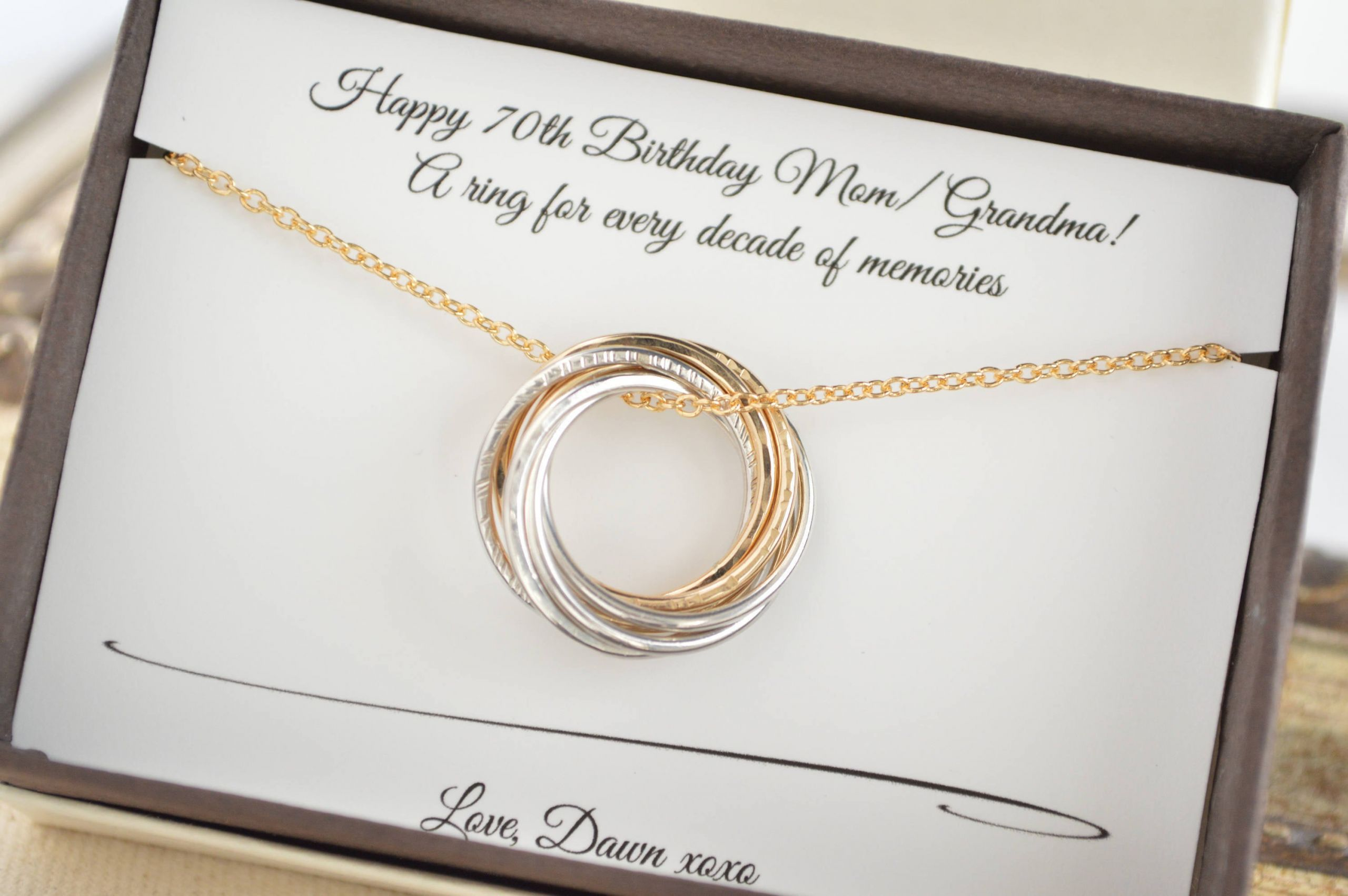 70Th Anniversary Gift Ideas  70th Birthday t for Mom and grandma necklace 7th