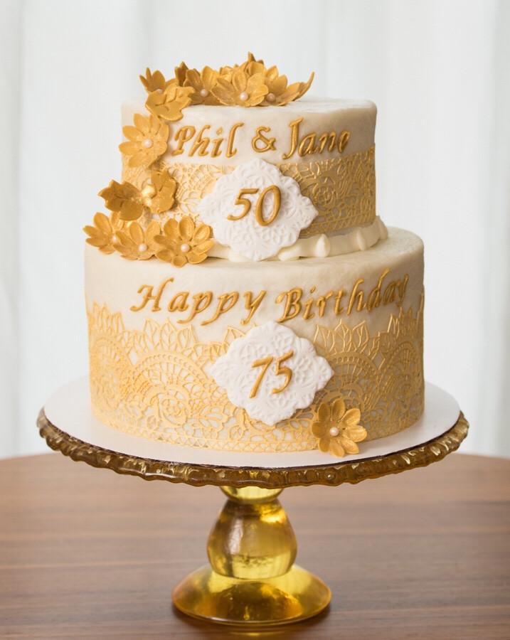 75th Birthday Cakes  50th Wedding 75th Birthday Cake – Aspen Street Cakes