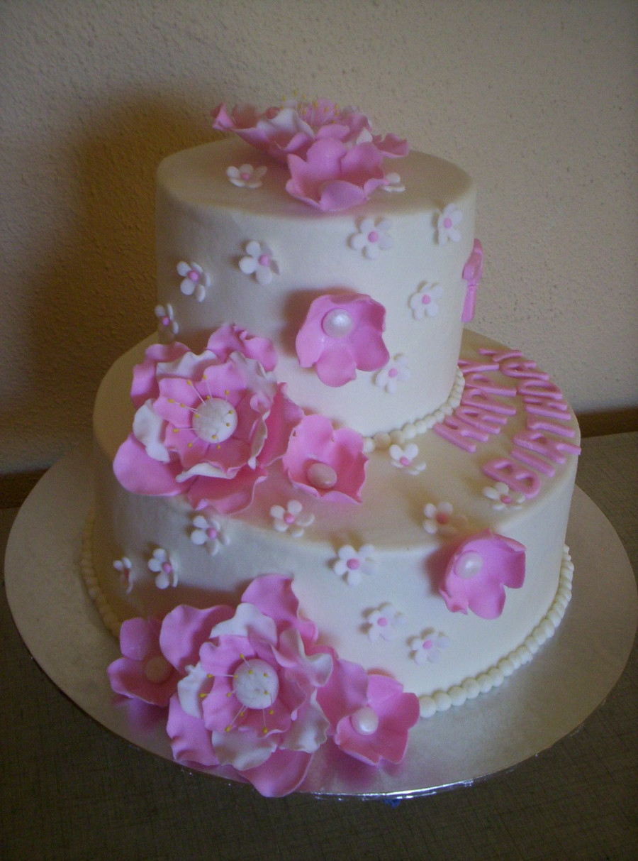 75th Birthday Cakes  Pink 75Th Birthday Cake CakeCentral