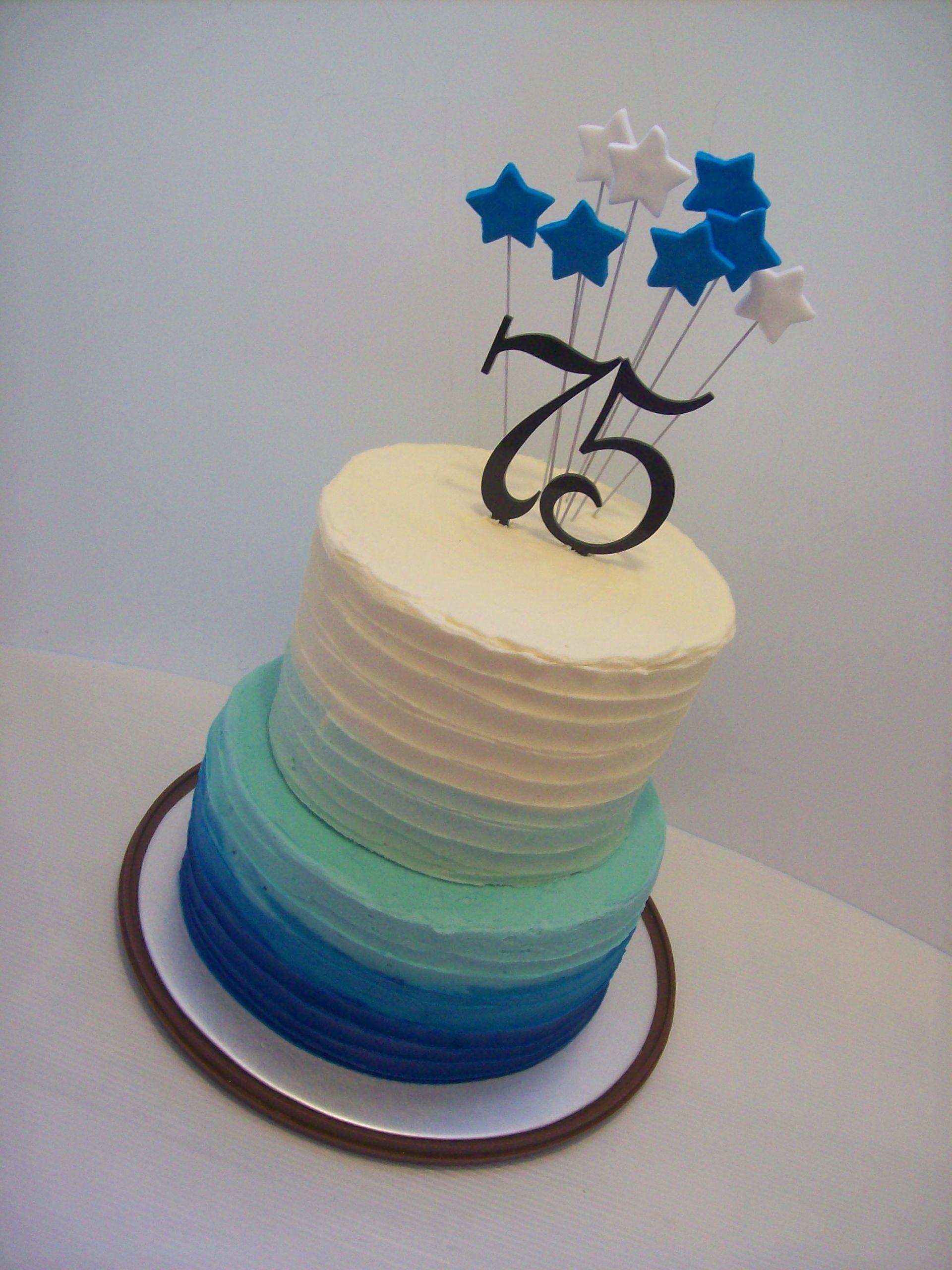 75th Birthday Cakes  75th Birthday Cake $250 • Temptation Cakes