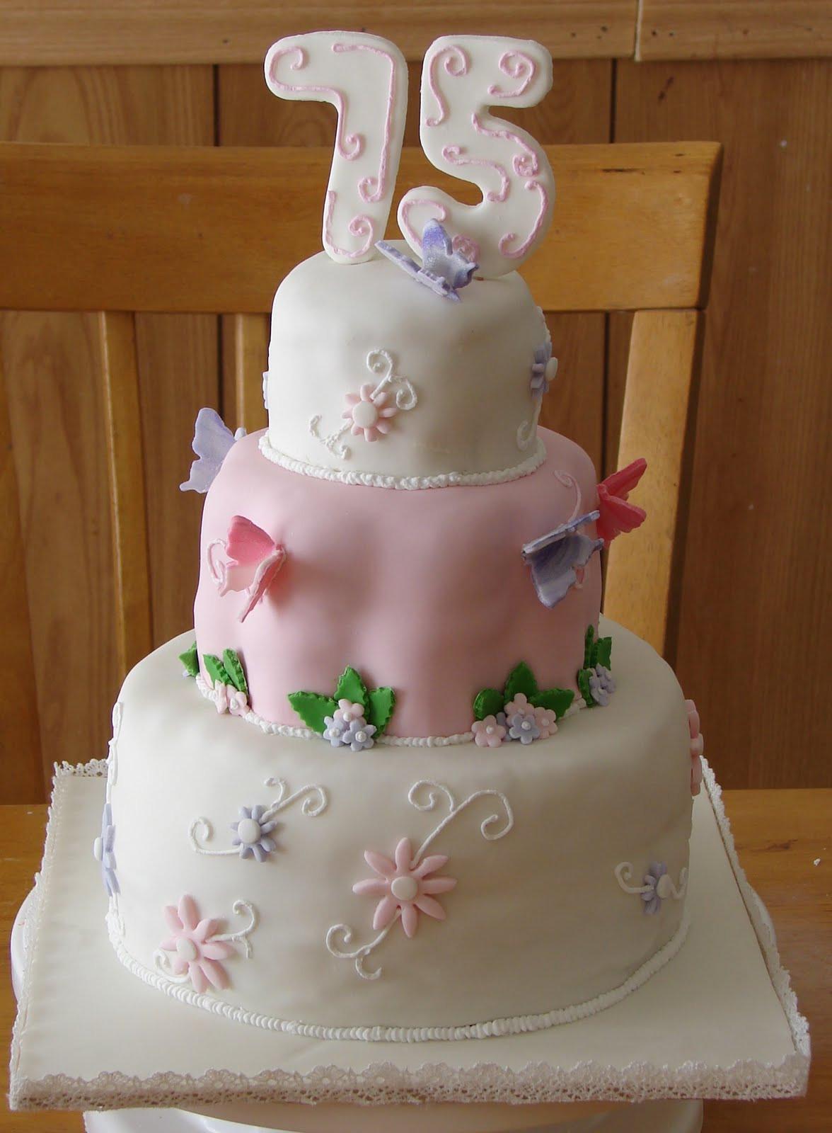 75th Birthday Cakes  My Cake Hobby 75th Birthday Cake