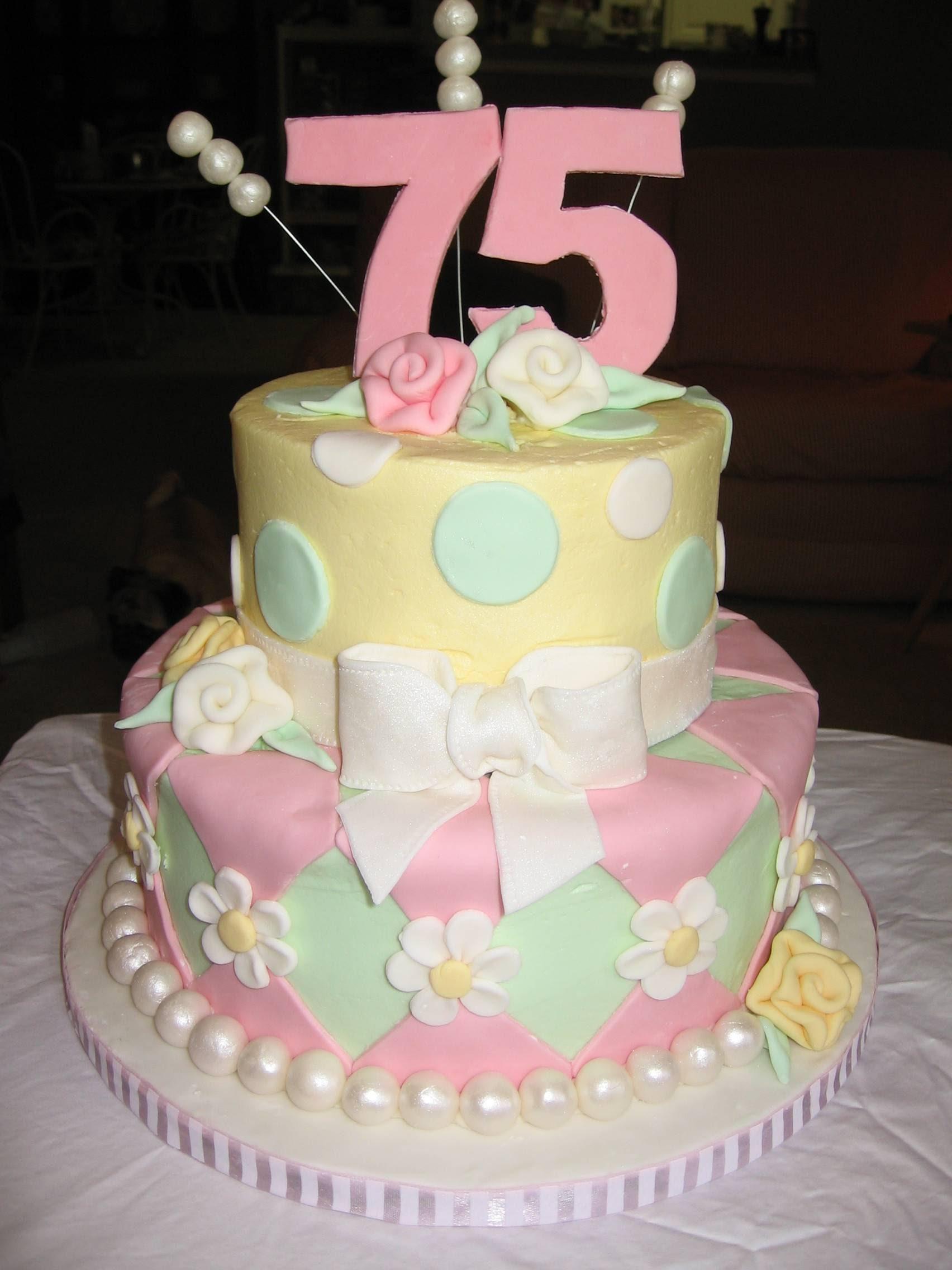 75th Birthday Cakes  75Th Birthday Cakes
