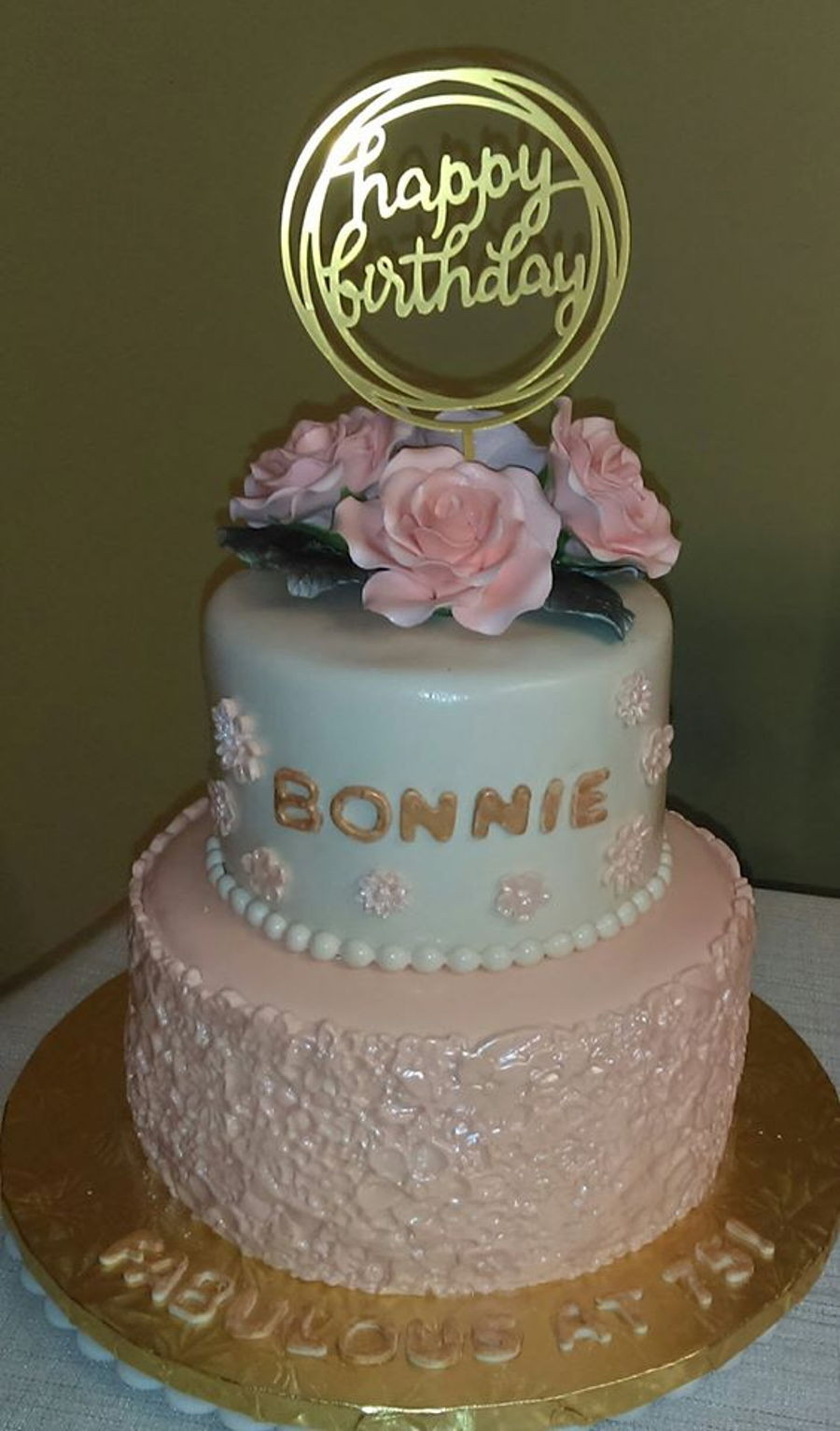 75th Birthday Cakes  Bonnie s 75Th Birthday Cake CakeCentral