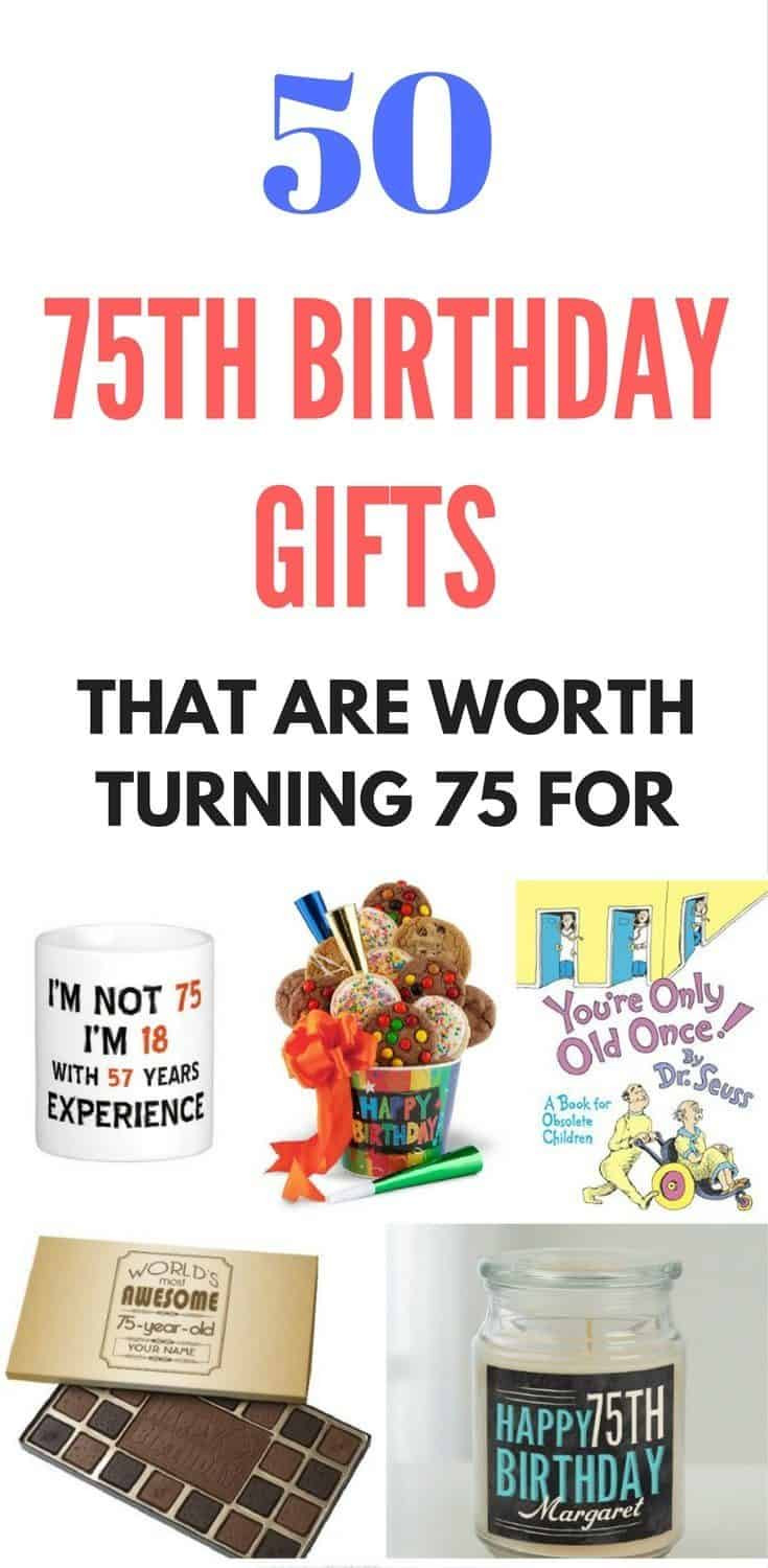 75Th Birthday Gift Ideas  Top 75th Birthday Gifts 50 Sure to Please Gift Ideas