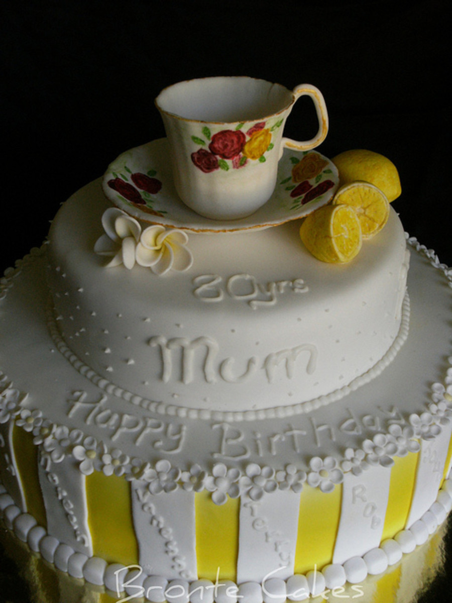 80 Birthday Cake  Tea Cup 80Th Birthday Cake CakeCentral