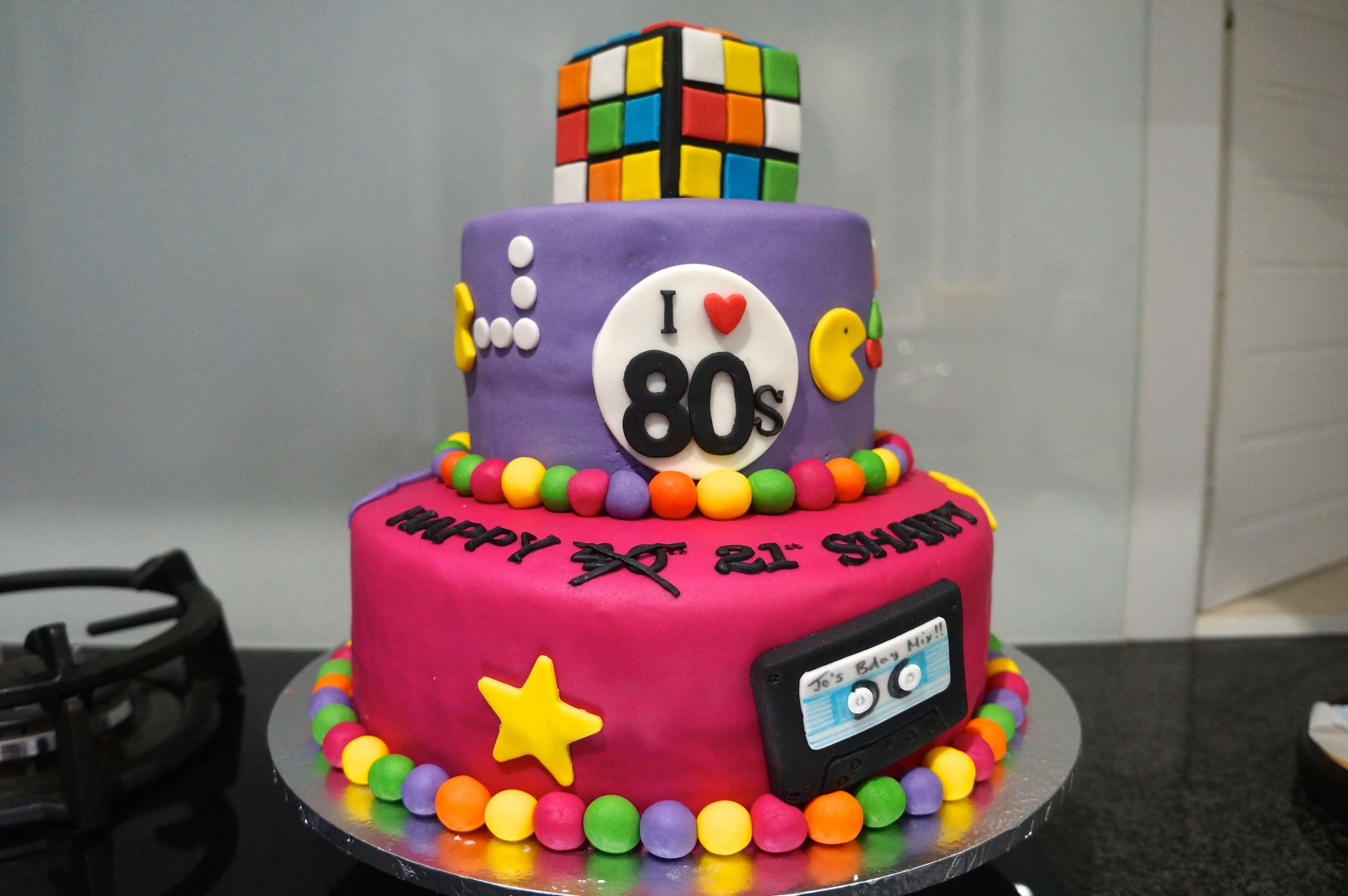 80 Birthday Cake  Retro I