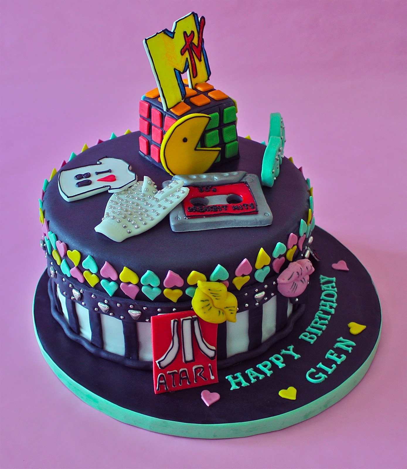 80 Birthday Cake  80 S THEME CAKE