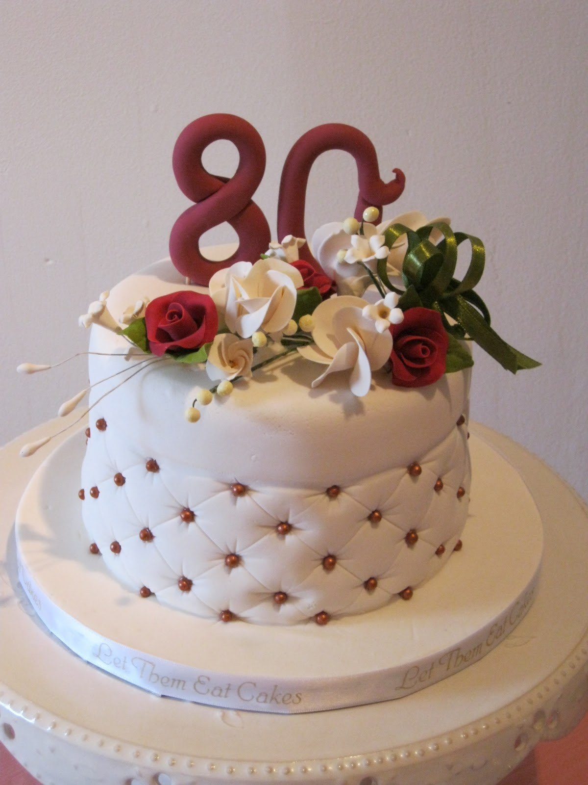 80 Birthday Cake  Let Them Eat Cakes 80th Birthday