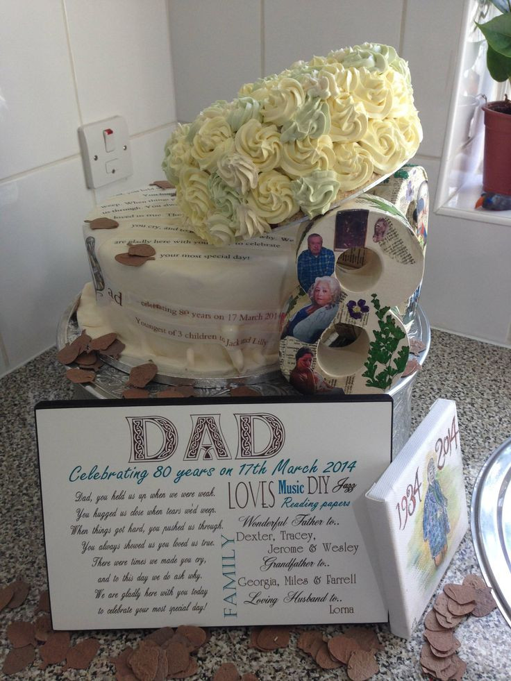 80Th Birthday Party Ideas For Dad  Pin by Gail Hinson on 80th Birthday Ideas for Dad