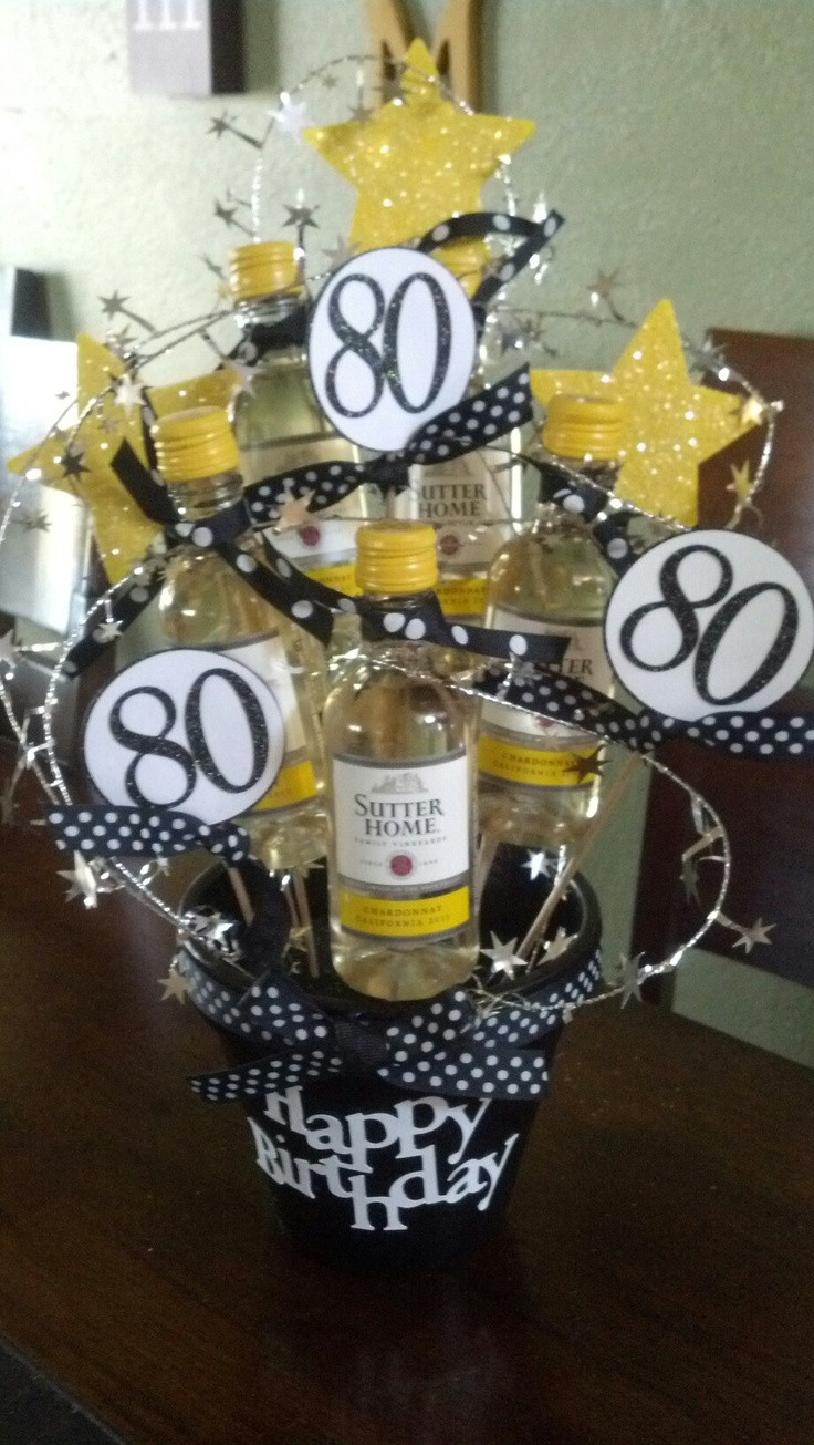 """80Th Birthday Party Ideas For Dad  Another t """"basket"""" I made for a friend s dad s 80th"""