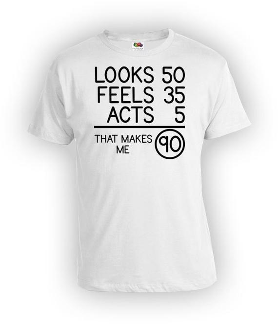 90Th Birthday Gift Ideas For Men  Funny Birthday T Shirt 90th Birthday Shirt Bday Gifts For Him
