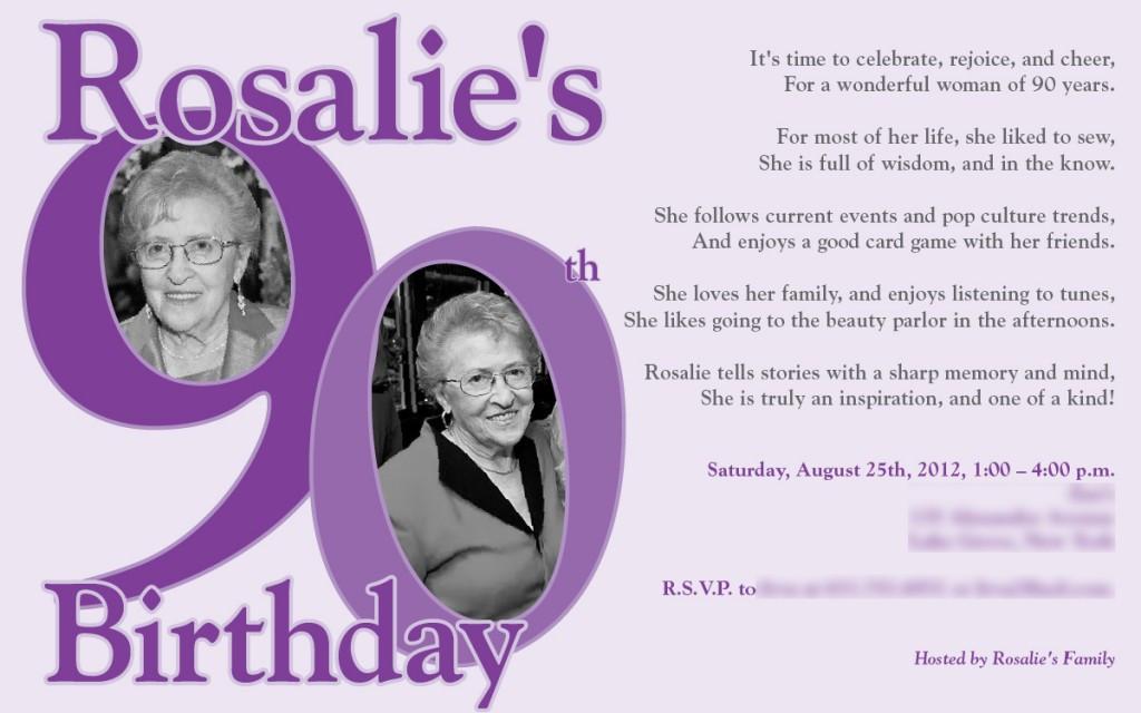 90th Birthday Invitation Wording  90th Birthday Invitations Ideas – Bagvania FREE Printable