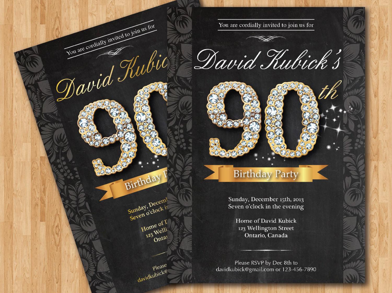 90th Birthday Invitation Wording  Free Printable 90th Birthday Invitations – FREE Printable